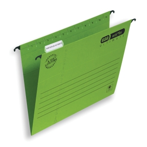 ELBA VERTICFLEX ULTIMATE GREEN FOOLSCAP SUSPENSION FILES V BASE - BOX OF 25