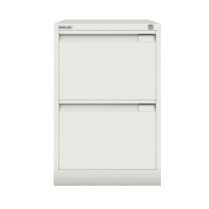 Bisley White 2-Drawer Foolscap Filing Cabinet