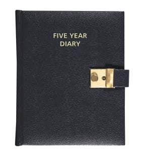 COLLINS FIVE YEAR DIARY A5 BLACK