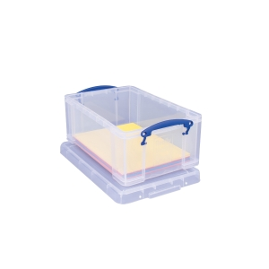 REALLY USEFUL BOX CLEAR 9 LITRE STORAGE BOX H155 X W255 X D395MM