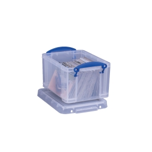 REALLY USEFUL BOX CLEAR 3 LITRE STORAGE BOX H160 X W180 X D245MM