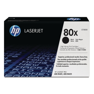 HP 80X High Yield Black Original LaserJet Toner Cartridge (CF280X)