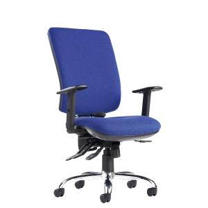 Senza Ergo High Back Chair Blue