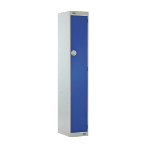 LOCKER 1800H x 300W x 450D, 1 DOOR, blue