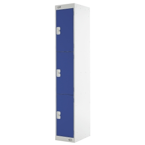 LOCKER 1800H x 300W x 450D, 3-DOOR, blue