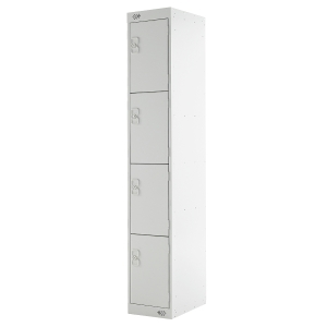 LOCKER 1800H x 300W x 450D, 4-DOOR, grey