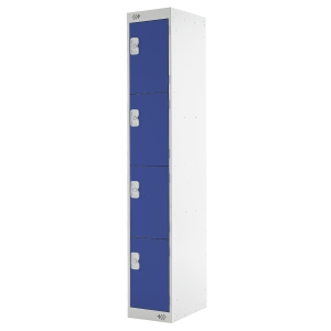 LOCKER 1800H x 300W x 450D, 4-DOOR, blue
