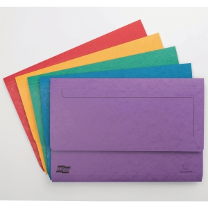 Europa Document Wallets, 265gsm, 36X23cm - Assorted Colours, Pack of 25