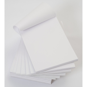 Office White 152 X 102mm Memo Pads (Plain) - Pack Of 10 (10 X 80 Sheets)