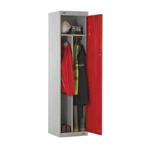 CLEAN/DIRTY LOCKER 1800H X 450W X 450D, 1 DOOR RED
