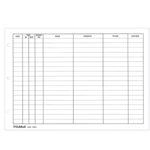 Guildhall Visitor Book Refill Pages, 21X29.7cm, Pre-Printed, 50 Sheets