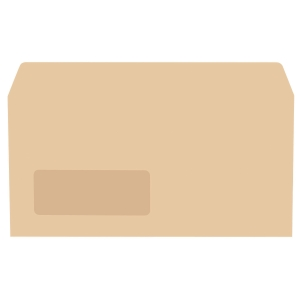 Lyreco Manilla Envelopes DL Gum Window 70gsm - Pack Of 1000