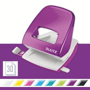 Leitz Wow 2-Hole Punch 5008 30 Sheets - Purple