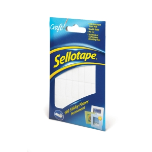 SELLOTAPE SELF-ADHESIVE STICKY FOAM FIXER PADS - BOX OF 140