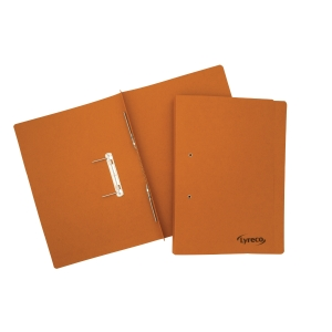 Lyreco Spring Files Foolscap 300gsm Orange - Pack Of 25