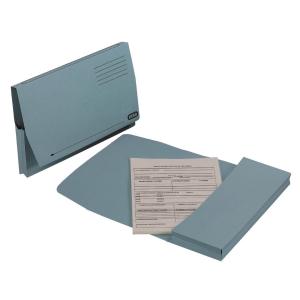 Elba Full Flap Foolscap Document Wallet Blu - Box of 50
