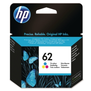 HP 62 Tri-Colour Original Ink Cartridge (C2P06AE)