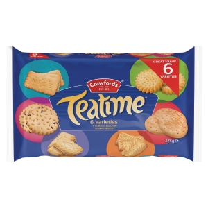 CRAWFORDS TEATIME BISCUITS ASSORTED 275G