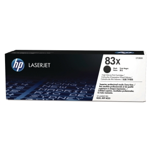 HP 83X High Yield Black Original LaserJet Toner Cartridge (CF283X)