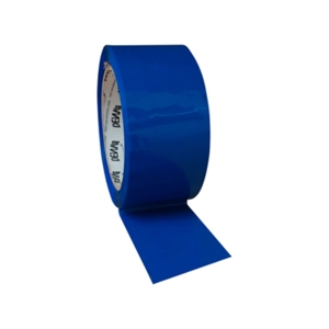 COLOURED PACKING TAPE - BLUE - PACK OF 6