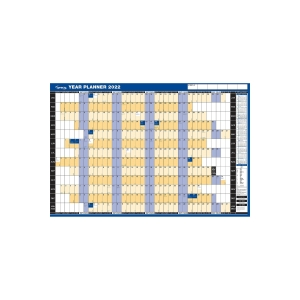 LYRECO MOUNTED LANDSCAPE YEAR PLANNER - 915 X 610MM