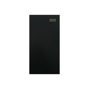 LYRECO PORTRAIT SLIM DIARY BLACK - WEEK TO VIEW