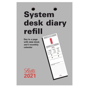 LETTS SYSTEM DESK CALENDAR 130 X 90MM REFILL - PAGE A DAY