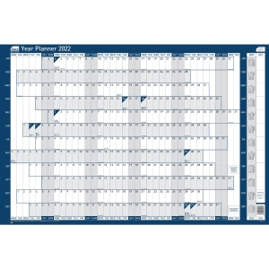 SASCO MOUNTED ORIGINAL YEAR PLANNER - 915 X 610MM