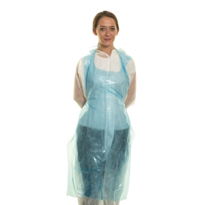DISPOSABLE APRON CATER SAFE 300057 BLUE (ROLL OF 200)