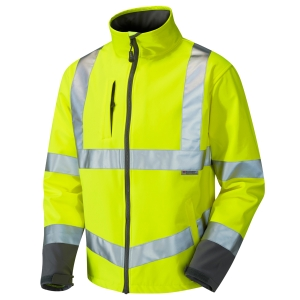 Leo High Visibility Buckland Softshell Jacket Yellow Medium