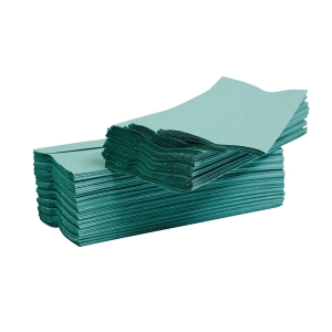 GREEN 1 PLY C-FOLD HAND TOWELS - PACK OF 2880