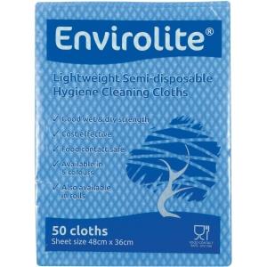 Blue Envirolite Folded Cloth Large - Pack of 50