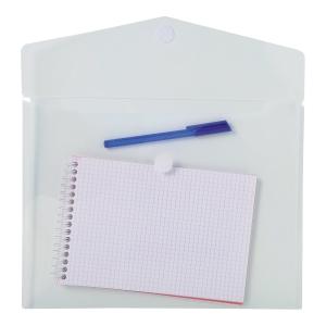 Exacompta PP Envelop Pocket, A4, Hook & Loop - Clear, Bag of 5