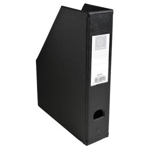Exacompta PVC Magazine File, 70mm Spine - Black