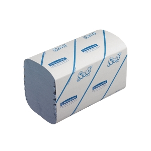 Scott Performance Blue 1 Ply Interfolded Hand Towels - Pack Of 15 Sleeves Of 212