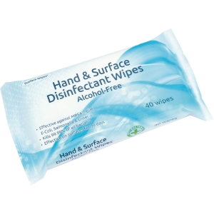 ALCOHOL FREE HAND & SURFACE DISINFECTANT WIPES - PACK OF 40