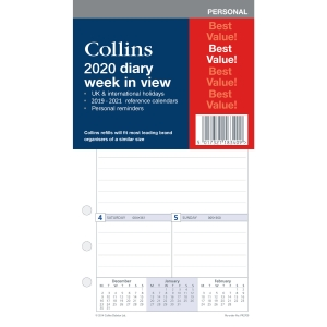 COLLINS PERSONAL ORGANISER REFILL WTV