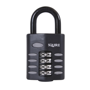 Combination Padlock Openshackle Black 50mm