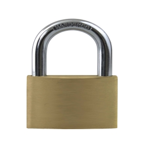 Brass Padlock Openshackle 40mm Keys