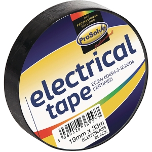 Roll Electrical Insulationtape 19mm 33Mtr Black