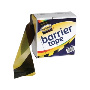 Roll Barrier Zebratape Black 70mm 500M Yellow