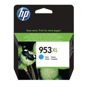 HP 953XL High Yield Cyan Original Ink Cartridge (F6U16AE)