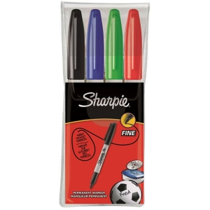 Sharpie Permanent Markers Fine Asst - Pack Of 4