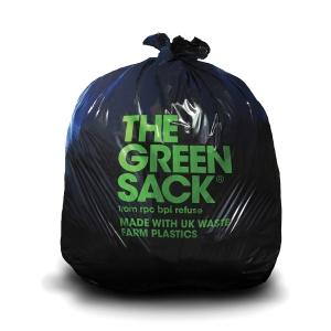 THE GREEN SACK CHSA 20KG EX HEAVY DUTY BLACK COMPACTOR 28 X45  PACK OF 20 SACKS