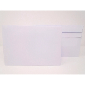 LYRECO ENVELOPE C5 WALLET 90G SELF SEAL WHITE PACK OF 500