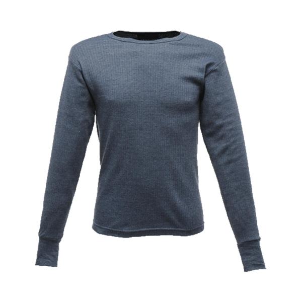 Regatta TRU112 Thermal Long Sleeve T-Shirt Blue Medium