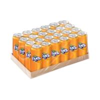 FANTA น้ำอัดลม 325 มิลลิลิตร ส้ม แพ็ค 24