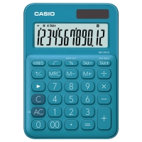 CASIO เครื่องคิดเลขชนิดตั้งโต๊ะ MS-20UC-BU 10 หลัก ฟ้า