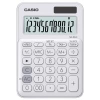 CASIO เครื่องคิดเลขชนิดตั้งโต๊ะ MS-20UC-WH 10 หลัก ขาว