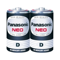 PANASONIC NEO ถ่านคาร์บอนซิงค์ R20NT/2SL 1.5 โวลต์ 2 ก้อน